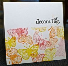 CAS228 (masking/OLC) ~ FS335 ~ Dream Big by hskelly - Cards and Paper Crafts at Splitcoaststampers ~ Stamps: Hero Arts, Unity (sentiment) ~ Paper: PaperTrey ~ Accessories: Gelatos, mister, Post-It note, Stamp-a-majig ~ Techniques: OLC, watercolor, masking
