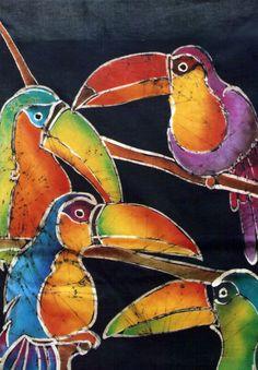 Silk painting with resist? Batik Art, Batik Prints, Art Prints, Art Aquarelle, Watercolor Paintings, Fabric Painting, Fabric Art, Shibori, Art Club