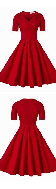 vintage style dress,vintage dress,vintage dresses,50s dress,50s dresses,red retro dress,retro dress