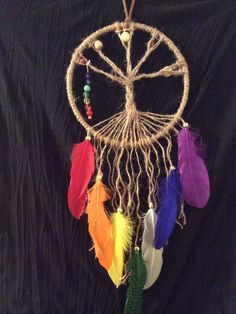 A personal favorite from my Etsy shop https://www.etsy.com/ca/listing/565758628/chakra-tree-of-life-dreamcatcher