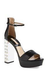 Michael Kors 'Nikki' Crystal Heel Sandal (Women)