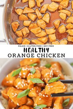 Healthy Orange Chicken - Make healthy take out style comfort food from the comfort of your own home! Made in under an hour with that classic sticky sweet sauce using only simple natural ingredients. It's sure to be your family's new favorite!#finishedwithsalt #easy #healthy #orangechicken #cleaneating #paleo #glutenfree | finishedwithsalt.com