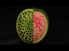 Open Your Heart Watermelon Carving - Advanced Lesson 12 by Mutita Art of Fruit & Vegetable Carving