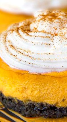 Oreo Pumpkin Mini Cheesecakes how to get your weight loss: shorturl.at/egqBU Thanksgiving Recipes, Fall Recipes, Great Recipes, Mini Desserts, Holiday Desserts, Pumpkin Cheesecake, Cheesecake Recipes, Cupcake Recipes, Pie Recipes