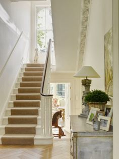 Wonderful feeling with all the light and view beyond stairway, charming, South Shore Decorating
