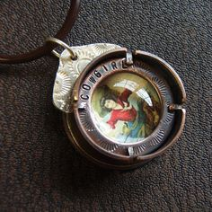 Cowgirl- Copper and Sterling Porthole Pendant by Melissa Manley
