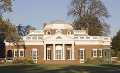 """Photo Credit: Thomas Jefferson Foundation at Monticello, photograph by Robert Lautman. Recognizable from its likeness on the US five cent piece, this view is referred to as the """"nickel shot."""""""