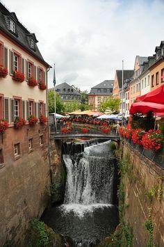 The picturesque town of Saarburg, Rhineland-Palatinate, Germany - by eddiemcfish