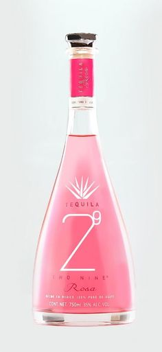 Tequila 29 Two Nine Rosa (Pink) is our new tequila member. This tequila is very special because it is carefully produce. This tequila is. Tequila Bottles, Tequila Drinks, Alcohol Bottles, Pink Drinks, Liquor Bottles, Cocktail Drinks, Alcoholic Drinks, Summer Cocktails, Tequila Rose