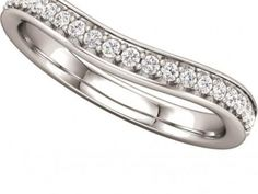 Wedding Band $1,005.00 STYLE: 001-110-00312  14K WG Band 1/5 ctw SI2-SI3 GH matching solitaire122099-3C http://www.theringbygoldgals.com/