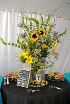 Sunflower Arrangement Centerpieces Ideas at Party Ideas 42