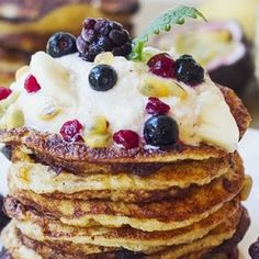I Quit Sugar - Vanilla Pancakes with Raw Cashew Cream