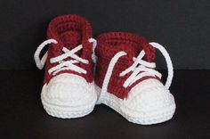 Crochet Baby Shoes,Crochet Baby Booties,Crochet Baby Tennis Shoes,Neutral Baby Gift,Baby Boy Shoes,Baby Girl Shoes,Baby Tennis Shoes, Red by jdurayful on Etsy