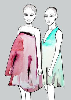 Dior Spring Summer 2013 fashion illustration by Helen Simms, #fashion, #illustration, #dior