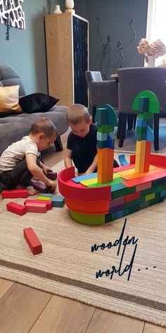 Grimms Rainbow, Rainbow Blocks, Block Play, Wooden Rainbow, Inspired Learning, Learning Through Play, Play Ideas, Imaginative Play, Wooden Blocks
