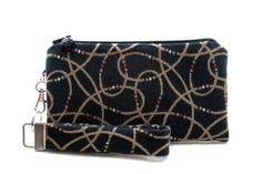 Black clutch purse gift set for women in mad men style fabric