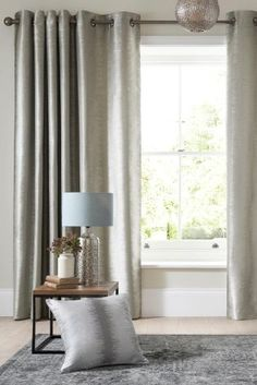Buy Luxe Metallic Ikat Stripe Eyelet Curtains online today at Next: Rep. of Ireland