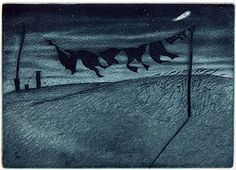The Washing Line & the Comet by Elizabeth Morris – available to buy online. Nocturne, Sun Sisters, Night Shadow, Clotheslines, Print Box, Before Sunrise, Number Two, Moon Child, Landscape Art