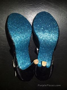 DIY Glitter Shoe Soles This would be fun for something blue!