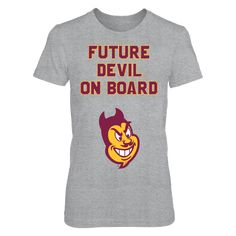 Pregnant Future Arizona State Devil On Board w/Sparky T Shirt