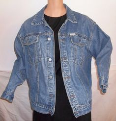 8cb32681aef Vintage 80 s Men s GUESS Denim Jean Jacket Size by Ragandbonz