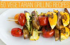 50 Vegetarian Grilling Recipes | ohmyveggies.com #grilling #vegetarian #summerrecipes