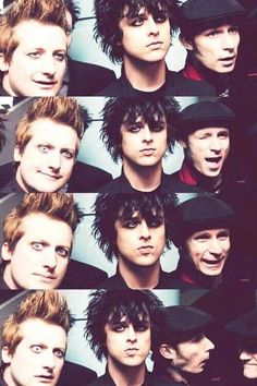 Frank Wright III, Billie Joe Armstrong, and Michael Pritchard  I love Green Day