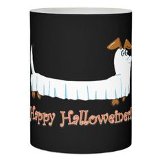 #Happy Halloweiner Dachshund Flameless Candle - #candle #candles #special #custom
