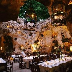 Ali Barbour's Cave Restaurant in Diani Beach, Kenya.