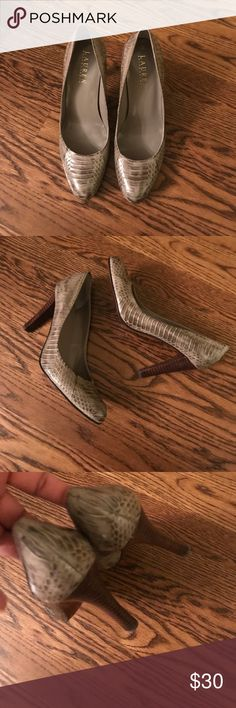 LAUREN RALPH LAUREN LEATHER SNAKESKIN HEELS NWOT LAUREN RALPH LAUREN LEATHER SNAKESKIN HEELS Lauren Ralph Lauren Shoes Heels