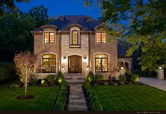 A Hinsdale home, French retreat!   www.millermillerrealestate.com  #European-style #French #brick #house #luxury #retreat #coppergutters