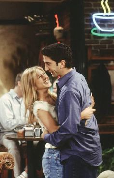 friends, ross, and rachel image