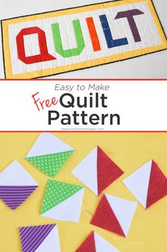 Did you know that Half Square Triangles are one of the most basic quilting blocks and can be used to create very complex blocks. From this technique alone a ton of designs can be created like Chevrons, Flying Geese, Herringbone, and ZigZag Path. This tutorial will explain to you about half-square triangles and how easy they are to make designs. #halfsquaretriangle #quiltingtriangle
