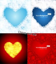 Background of heart-shaped vector material download
