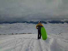 Sledding at the bitterroot valley. Idaho February 2014