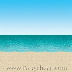 Ocean backdrop for party