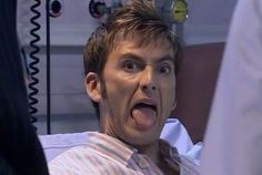 """The Tenth Doctor in the hospital, episode """"Smith and Jones"""" Doctor Who"""