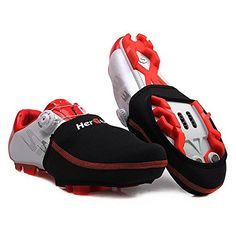 Cycling Shoe Covers Short Toe Cover for Road or Mountain Bike Shoes Winter Cycling A * Click image for more details.