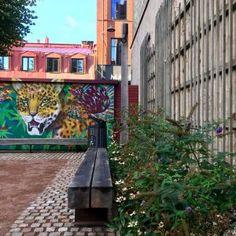 Briggen Park Passage by MARELD landskapsarkitekter « Landscape Architecture Platform Public Square, Construction Process, Come And Go, Contemporary Landscape, Sustainable Design, Brick Wall, Landscape Architecture, Night Life, The Neighbourhood
