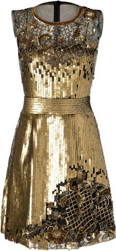 Love this:ALBERTA FERRETTI Sequin and Lace Cocktail Dress @Lyst