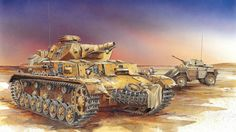 Las Cosicas del Panzer — Panzer IV DAK con vehiculo de exploracion Humber
