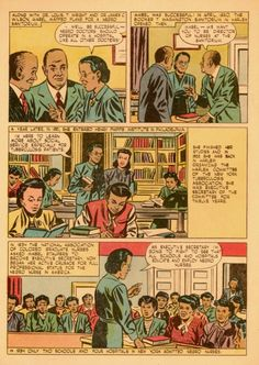 Mabel K. Staupers (1890-1989), comic book biography, third page, 1948.