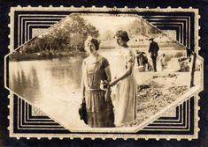 Às margens do lago no Passeio Público, espaço de lazer curitibano. Foto de 1923.
