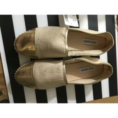 Spotted while shopping on Poshmark: Steve Madden Destiney Espadrille Gold Flats 10! #poshmark #fashion #shopping #style #Steve Madden #Shoes