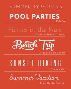 Quotes - Quotes Typo - Summer Type Picks... Quotes Typography trend & inspiration  Preview – Quote    Description  Summer Type Picks  – Source –