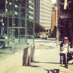 Amnesia filmer Jesse Ambrose taking a break to let me know what he thinks of me taking photos. Chifley Plaza, Sydney - @amnesiaskateboards- #webstagram