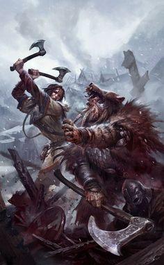 Fantasy Warrior, Fantasy Battle, Fantasy Rpg, Medieval Fantasy, Fantasy World, Medieval Knight, High Fantasy, Fantasy Artwork, Viking Power