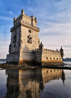 Belem Tower, Unesco World Heritage Site, Lisbon, Portugal - Monument to the portuguese discoveries by sea