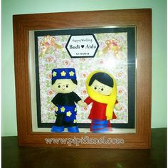 Hi, this cute feltdoll is wearing Betawi traditional wedding costume, made by Pipi Flanel.. Wanna see our feltdolls collection? Please visit our website at www.pipiflanel.com thank you :)