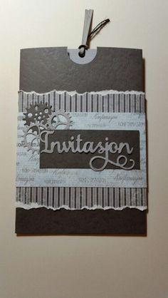 Invitasjon konfirmasjon gutt Four Square, Invitation Cards, Cricut, Scrapbook, Projects, Diy, Inspiration, Ideas, Handarbeit